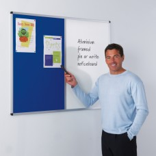 Aluminium Framed Dual Noticeboard