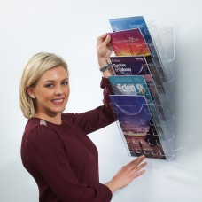 All Clear Premier wall mounted literature display