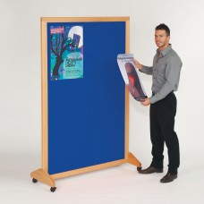 Wood Mobile Noticeboard/Divider