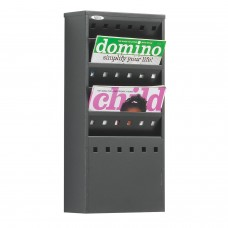 Steel wall mounted literature dispenser