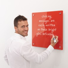 Write-on coloured glassboard