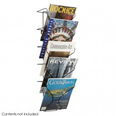 Wire wall mounted literature dispenser