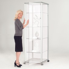 Shield Glazed Display Case - Illuminated Tour Unit