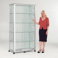 Shield Glazed Display Case - Wide Tower