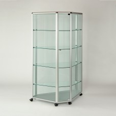 Glazed Counter Display Cabinet - Tall Triangular