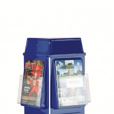 4 Sided Revolving Leaflet Dispenser - Optional Header