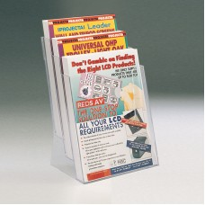 3 Tier Expandable Desktop Leaflet Dispenser