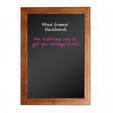 Wood framed blackboard