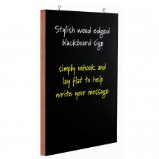 Wood edged blackboard sign