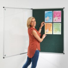 Tamperproof Noticeboard with Fire Retardant Cloth