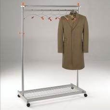 Silver coat rail