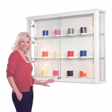 Shield Glazed Display Case - Illuminated Wall Cabinet